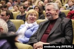 Мілінкевіч разам з жонкай Інай Кулей