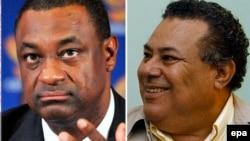ФИФА-дағы коррупциялық жанжал ісі бойынша күдікке ілінген Хулио Роча (оң жақта) және Джеффри Уэбб.