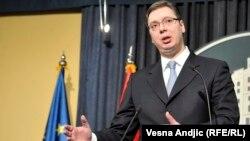 Српскиот премиер, Александар Вучиќ