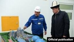 Президент Сооронбай Жээнбеков Аравандагы цемент заводунун ачылышында. 2-ноябрь, 2018-жыл.