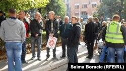 Tokom protesta u ponedjeljak