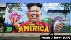 Граффити на одной из улиц Лос-Анджелеса