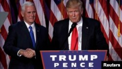 Майк Пенс и Дональд Трамп