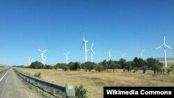 Казакстандын Курдай аймагындагы жел электр станциялары. 2015-жыл.