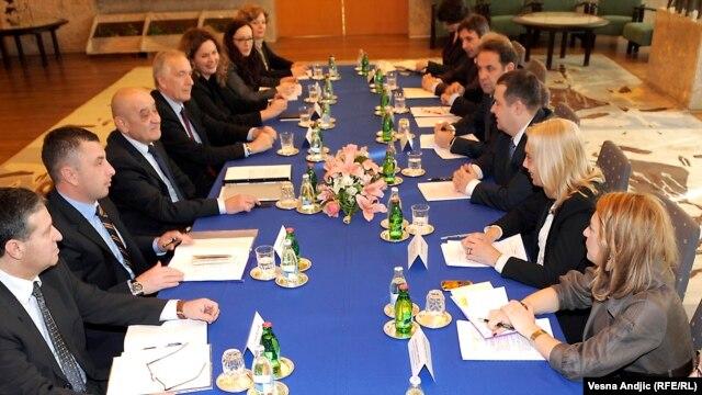 Susret Ivice Dačića i Vjekoslava Bevande u Beogradu