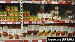 Украинские товары в крымском магазине «Яблоко»
