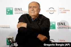 Бернардо Бертолуччи на Римском кинофестивале, 2016 год