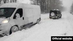 Сніг на Одещині, 19 січня 2018 року