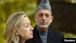 Хиллари Клинтон и Хамид Карзай