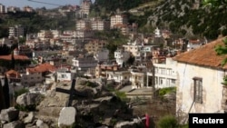 Syria -- A general view shows the Armenian Christian town of Kessab after rebel fighters seized it, March 24, 2014