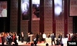 """Scenă din """"Tannhäuser"""" spectacolul interzis de la Opera din Novosibirsk"""
