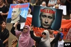 Акція протесту проти військових дій режиму Путіна у Сирії. Австралія, Сідней, 11 жовтня 2015 року