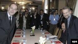 خاوير سولانا و علی لاریجانی هر دو نسبت به نتایج این مذاکرات ابراز خوشبینی کرده اند.