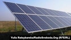 Сонячна електростанція, місто Підгороднє, Дніпропетровська область, 8 жовтня 2013 року