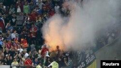 Вроцлав стадионындағы Ресей жанкүйерлері. 8 маусым, 2012 жыл