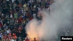 Російські вболівальники неналежно поводилися на стадіоні у Вроцлаві 8 червня 2012 року