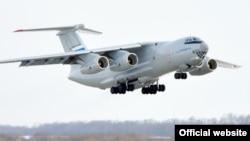 Российский военно-транспортный самолет Ил-76.