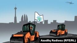 200 Year-Old Road In Baku Covered By Asphalt In Advance Of Formula-1 (RFE/RL Azerbaijani Service)