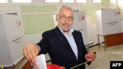 «Ән-Нахда» исламшыл партиясының басшысы Рашид Ганучи. Тунис, 23 қазан 2011 жыл.