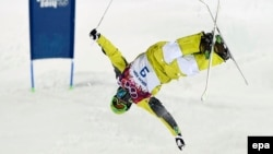 Қазақстандық спортшы Дмитрий Рейхард Сочи олимпиадасында. 10 ақпан 2014 жыл.