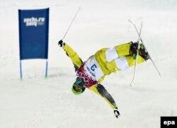 Дмитрий Рейхерд Сочи олимпиадасына қатысып жатқан сәт.