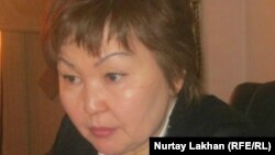 Маржан Балбаева, заместитель акима Алатауского района Алматы, 12 апреля 2012 года.