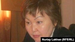 Алатау ауданы әкімінің орынбасары Маржан Балбаева. Алматы 12 сәуір 2012 жыл.