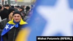 Sarajevo: Protest otpuštenih pripadnika OS BiH