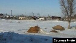 Вид на станцию Нура. Карагандинская область, 24 февраля 2016 года.