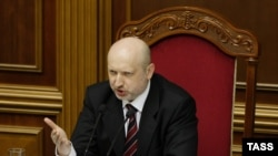 Ushtruesi i detyrës së presidentit të Ukrainës, Oleksandr Turchynov.