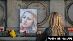 Портрет убитой журналистки Виктории Мариновой