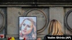 Svijeće za ubijenu novinarku Viktoriju Marinovu