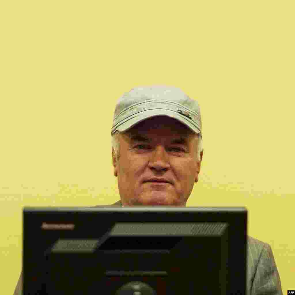 Former Bosnian Serb army chief Ratko Mladic in The Hague in 2011