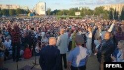 Акцыя пратэсту ў Жлобіне, 14 жніўня. Ілюстрацыйнае фота