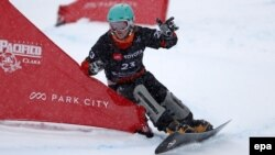 У 2019 році Україна здобула дві історичні медалі у сноубордингу. На фото - Аннамарі Данча, яка виборола срібну нагороду на чемпіонаті Світу