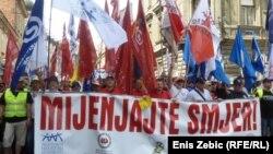 Prosvjed u Zagrebu, 01. svibanj 2013.