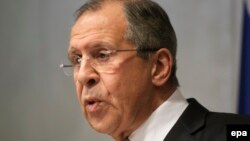 Russian Foreign Minister Sergei Lavrov in Belgrade