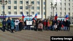 Акция в поддержку Навального, Магадан, 12 октября 2017 г.