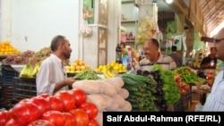 سوق للخضار والفواكه في الكوت