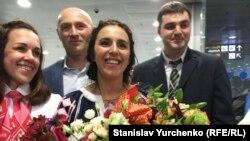 Ukraine, Kyiv - Jamala arrived in Borispol, 15May2016
