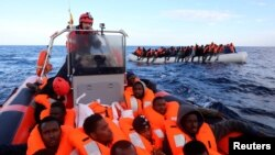 Akcija spasavanja afričkih migranata na Sredozemnom moru