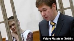 Надежда Савченко и адвокат Илья Новиков