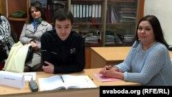 Назіральнікі Ганна Ганчарова, Кірыл Гарбуноў і Аксана Аляксеева