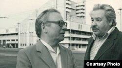 Аяз Гыйләҗев (с) һәм Марсель Сәлимҗанов