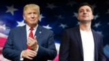 Дональд Трамп, ліворуч, і Володимир Зеленський (колаж)