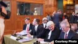 Делегация Косово в Международном суде, Гаага, 1 декабря 2009 года