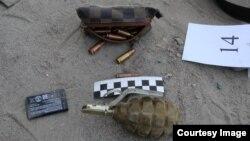 Оружие, найденное на месте операции в Бишкеке