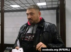 Сяргей Ціханоўскі падчас суду над ім, 27 сьнежня 2019