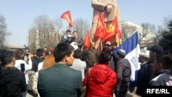 Садыр Жапаровду колдоо митинги. 25-март, 2017-жыл.