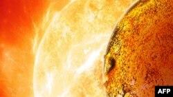 """Жаңадан табылған Жерге ұқсас """"Кеплер-78б"""" ғаламшары. НАСА түсірген сурет, 30 қазан 2013 жыл."""
